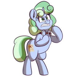 Size: 512x512 | Tagged: safe, artist:anibaruthecat, oc, oc only, oc:sweetwater, pony, unicorn, angry, clenched teeth, expressions, female, filly, fite me, fury, goggles, rage, simple background, sticker, transparent background, vein, vein bulge