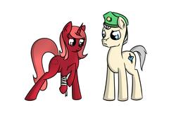 Size: 1500x1000   Tagged: safe, oc, oc:blueheart, oc:cherry sundae, pony, fallout equestria, fallout equestria: broken bonds, fanfic art