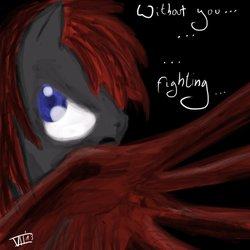 Size: 894x894   Tagged: safe, artist:thatseven, oc, oc:crimson wings, pegasus, pony, fallout equestria, fallout equestria: broken bonds, fanfic art