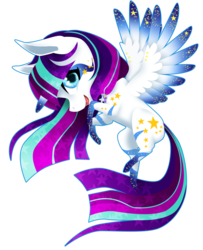 Size: 1024x1260 | Tagged: safe, artist:oneiria-fylakas, oc, oc only, oc:twily star, alicorn, pony, chibi, colored wings, colored wingtips, female, mare, simple background, solo, transparent background