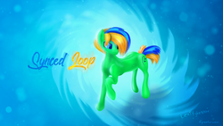 Size: 1280x720 | Tagged: safe, artist:lexifyrestar, oc, oc:synced loop, wallpaper
