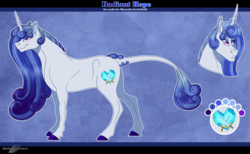 Size: 1300x802 | Tagged: artist:bijutsuyoukai, female, mare, oc, oc:radiant hope, offspring, parent:princess cadance, parent:shining armor, parents:shiningcadance, pony, reference sheet, safe, solo, unicorn