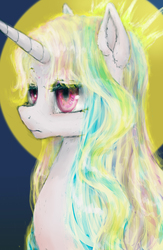 Size: 2600x4000 | Tagged: safe, artist:plotcore, princess celestia, pony, bust, female, portrait, solo