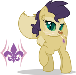 Size: 823x813 | Tagged: safe, artist:mlp-trailgrazer, oc, oc only, oc:perfect prime, cat pony, hybrid, original species, my little pony: the movie, chest fluff, colored sclera, cutie mark, female, interspecies offspring, offspring, parent:capper, parent:rarity, parents:capperity, raised hoof, simple background, slit pupils, solo, transparent background, vector, whiskers