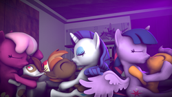 Size: 3840x2160 | Tagged: 3d, adventure in the comments, age difference, alicorn, alternate version, artist:viranimation, button mash, cheerilee, cheerilee gets all the colts, cheeripip, female, hearts and hooves day, kissing, male, pipsilee, pipsqueak, rarimash, rarity, safe, shipping, source filmmaker, straight, straight shota, tender taps, twilight is a foal fiddler, twilight sparkle, twilight sparkle (alicorn), twitaps