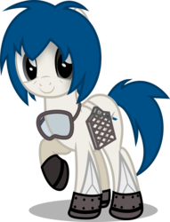 Size: 3843x5022 | Tagged: artist:zylgchs, cute, derpibooru exclusive, goggles, gridfins, oc, ocbetes, oc:merlin, oc only, ponified, pony, rocket, rocket pony, safe, simple background, solo, spacex, transparent background, vector