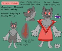 Size: 1200x1000 | Tagged: safe, artist:wisp the diamond dog, oc, oc only, oc:scoria keeshi, diamond dog, doggo, female, female diamond dog, keeshond, paws, reference, underpaw