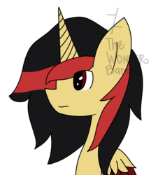 Size: 2052x2269 | Tagged: alicorn, alicorn oc, artist:vinylmelody, bust, oc, oc only, pony, safe, simple background, solo, transparent background