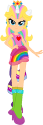 Size: 204x593 | Tagged: safe, artist:selenaede, artist:user15432, rarity, human, equestria girls, barely eqg related, base used, boots, clothes, colorful, colors, crossover, crown, dress, ear piercing, earring, equestria girls style, equestria girls-ified, high heel boots, high heels, jewelry, nintendo, piercing, ponied up, pony ears, princess peach, rainbow, rainbow hair, rainbow power, rainbow power-ified, rainbow tail, raripeach, regalia, shoes, super mario bros., super smash bros.