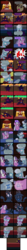 Size: 2000x18760 | Tagged: safe, artist:magerblutooth, diamond tiara, discord, silver spoon, oc, oc:dazzle, oc:il, oc:power cord, cat, earth pony, imp, pony, comic:diamond and dazzle, breaking the fourth wall, comic, court, courtroom, gavel, judge, objection, trial, x was discord all along