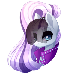 Size: 900x900   Tagged: safe, artist:scarlet-spectrum, coloratura, earth pony, pony, the mane attraction, clothes, countess coloratura, female, looking at you, mare, simple background, solo, transparent background, veil, watermark