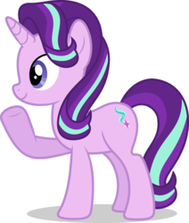 Size: 7000x8263 | Tagged: absurd res, artist:luckreza8, cute, female, glimmerbetes, mare, pony, safe, simple background, smiling, solo, starlight glimmer, transparent background, unicorn, vector