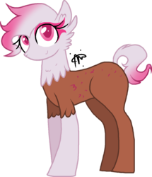 Size: 940x1095 | Tagged: artist:thepegasisterpony, hybrid, interspecies offspring, magical lesbian spawn, oc, oc only, oc:primrose shortcake, offspring, parent:gilda, parent:pinkie pie, parents:gildapie, safe, simple background, solo, transparent background