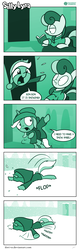 Size: 726x2263 | Tagged: artist:dori-to, bon bon, clothes, comic, comic:silly lyra, cute, earth pony, faceplant, female, greenscale, horn, jacket, lyrabetes, lyra heartstrings, mare, monochrome, pony, safe, silly, silly lyra, snow, snow angel, speech, sweater, sweetie drops, text, unicorn