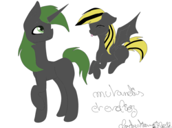 Size: 1900x1420 | Tagged: artist:cloudydream, changeling, changeling oc, oc, oc:evolioz, oc:mutandis, oc only, raised hoof, safe, simple background, transparent background