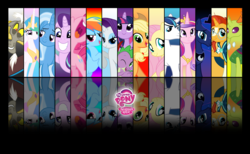 Size: 9843x6066 | Tagged: alicorn, alicorn tetrarchy, applejack, artist:stay gold, changedling, changeling, discord, draconequus, fluttershy, king thorax, logo, mane seven, mane six, my little pony, pegasus, pinkie pie, princess cadance, princess celestia, princess luna, rainbow dash, rarity, safe, shining armor, spike, starlight glimmer, sunburst, thorax, trixie, twilight sparkle, twilight sparkle (alicorn), unicorn