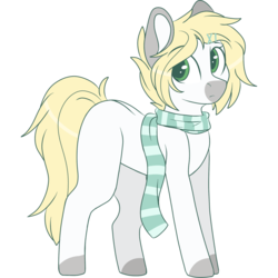 Size: 2048x2048 | Tagged: safe, artist:cinnamontee, oc, oc only, oc:ren, earth pony, pony, clothes, high res, male, scarf, simple background, solo, stallion, transparent background, trap