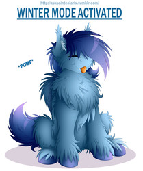 Size: 2550x3050   Tagged: safe, artist:colarix, oc, oc only, oc:johan, bat pony, pony, :3, :p, :t, belly fluff, cheek fluff, chest fluff, ear fluff, excessive fluff, eyes closed, fangs, fluffy, impossibly large chest fluff, leg fluff, male, pomf, shoulder fluff, silly, simple background, smiling, solo, stallion, tongue out, unshorn fetlocks, white background, wing fluff, winter fluff