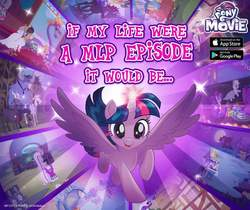 Size: 940x788 | Tagged: safe, applejack, coloratura, cranky doodle donkey, daring do, iron will, matilda, pharynx, prince rutherford, quibble pants, rarity, spirit of hearth's warming past, starlight glimmer, steven magnet, twilight sparkle, alicorn, goat, my little pony: the movie, official, book, my little pony logo, twilight sparkle (alicorn)