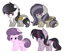 Size: 429x361 | Tagged: artist:marielle5breda, chibi, female, hippogriff, interspecies offspring, magical lesbian spawn, oc, oc:music strings, oc only, oc:purple note, oc:sound heart, oc:twily, offspring, parent:gilda, parent:octavia melody, parent:princess flurry heart, parents:flurrytavia, parents:giltavia, parents:twitavia, parent:twilight sparkle, pegasus, pony, safe, simple background, transparent background