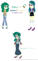 Size: 778x1238 | Tagged: safe, artist:prettycelestia, juniper montage, wallflower blush, equestria girls, equestria girls series, forgotten friendship, movie magic, spoiler:eqg specials, four eyes, fusion, gem fusion, glasses, multiple eyes, steven universe