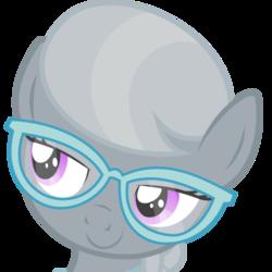 Size: 500x500 | Tagged: safe, artist:the smiling pony, silver spoon, earth pony, pony, derpibooru, .svg available, derpibooru badge, female, lidded eyes, meta, simple background, smiling, smug, solo, svg, transparent background, vector