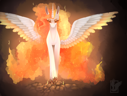 Size: 1600x1200   Tagged: safe, artist:maria-fly, daybreaker, alicorn, pony, female, looking at you, mare, solo