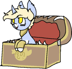 Size: 415x398 | Tagged: safe, artist:nootaz, oc, oc only, oc:nootaz, mimic, mimic pony, monster pony, original species, pony, chest, freckles, simple background, tongue out, transparent background
