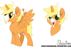 Size: 6925x4972 | Tagged: safe, artist:showtimeandcoal, oc, oc only, oc:solarcast, alicorn, absurd resolution, alicorn oc, bust, colt, male, movie accurate, portrait, reference, reference sheet, request, simple background, solo, stallion, style, transparent background, vector