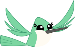 Size: 4907x3081 | Tagged: safe, artist:fercho262, bird, hummingbird, may the best pet win, animal, flying, simple background, solo, transparent background, vector