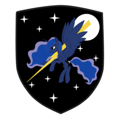 Size: 2482x2402 | Tagged: safe, artist:puchalka, princess luna, alicorn, pony, black, black and white, bolt, female, flying, grayscale, lightning, monochrome, moon, night, rage, solo, stars, tab, vector