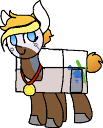 Size: 315x392 | Tagged: safe, artist:nootaz, oc, oc:looty, loot box, medal, simple background, transparent background