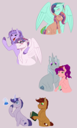Size: 1299x2166 | Tagged: adopted offspring, artist:ganashiashaka, earth pony, female, gay, magic, magical lesbian spawn, male, mare, oc, oc:aegis frost, oc:amethyst swirl, oc:dawn dreamer, oc:feather dart, oc:grease spot, oc:hex mind, oc:macoun apple, oc only, oc:pinni, oc:shining breeze, offspring, parent:applejack, parent:cheese sandwich, parent:fluttershy, parent:maud pie, parent:pinkie pie, parent:princess cadance, parent:rainbow dash, parents:cheesepie, parent:shining armor, parent:soarin', parents:shiningcadance, parents:soarinjack, parents:starmaud, parent:starlight glimmer, parents:twiburst, parent:sunburst, parents:zephdash, parent:twilight sparkle, parent:zephyr breeze, pegasus, pony, safe, simple background, stallion, straight, unicorn