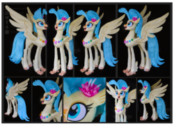 Size: 3603x2620   Tagged: safe, artist:nazegoreng, princess skystar, classical hippogriff, hippogriff, my little pony: the movie, happy, high res, irl, photo, plushie, seashell necklace, solo, spread wings, wings