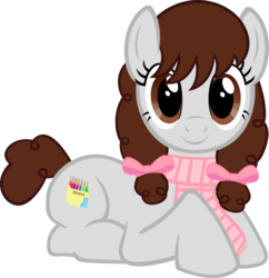 Size: 2180x2256 | Tagged: safe, artist:breadking, oc, oc:sweet paint, earth pony, pony, clothes, female, high res, mare, prone, scarf, simple background, solo, transparent background, vector