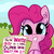 Size: 1650x1650 | Tagged: safe, artist:tjpones, pinkie pie, earth pony, pony, blushing, bronybait, bust, crossed out, cute, daaaaaaaaaaaw, diapinkes, ear fluff, featured image, female, grin, hooves together, invitation, letter, looking at you, mare, nervous, nervous grin, offscreen character, ponk, sign, smiling, solo, squee, subtle as a train wreck, sweet dreams fuel, text, tjpones is trying to murder us, wow