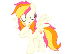 Size: 2732x2048 | Tagged: safe, artist:prismaticstars, oc, oc:sunkist, pegasus, pony, :o, female, high res, mare, open mouth, simple background, solo, transparent background, vector