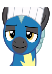 Size: 595x842   Tagged: safe, artist:pacificgreen, thunderlane, pony, marks and recreation, .svg available, clothes, grin, inkscape, simple background, smiling, solo, svg, toque, transparent background, uniform, vector, wonderbolts uniform
