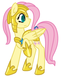 Size: 929x1162 | Tagged: safe, artist:azure-quill, fluttershy, pony, royal guard armor, simple background, solo, transparent background