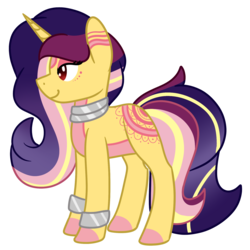 Size: 1800x1800 | Tagged: safe, artist:azure-quill, oc, oc:wild gala, pony, unicorn, female, mare, simple background, solo, transparent background
