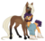 Size: 3281x3000 | Tagged: safe, artist:askbubblelee, oc, oc only, oc:cocoa nutt, oc:peter nutt, earth pony, pony, saddle arabian, beard, clothes, couple, facial hair, female, husband and wife, looking at each other, male, mare, married couple, oc x oc, realistic anatomy, realistic horse legs, redesign, shipping, shirt, simple background, size difference, smiling, socks (coat marking), stallion, star (coat marking), straight, transparent background, unshorn fetlocks