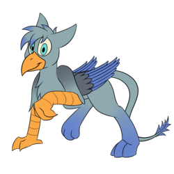 Size: 2000x2000 | Tagged: artist:recordmelodie, griffon, griffon oc, male, oc, oc:chimalus, oc only, safe, simple background, smiling, solo, transparent background