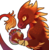 Size: 860x886 | Tagged: safe, artist:sitaart, oc, oc only, oc:ancient tome, crystal pony, dragon, luminous dragon, original species, ponyfinder, dungeons and dragons, male, orange eyes, pathfinder, pen and paper rpg, rpg, simple background, solo, transparent background