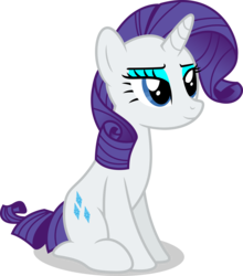 Size: 7000x7939 | Tagged: safe, artist:luckreza8, rarity, pony, unicorn, .svg available, absurd resolution, curly tail, eyeshadow, female, horn, lidded eyes, makeup, mare, satisfied, simple background, sitting, smiling, solo, transparent background, vector
