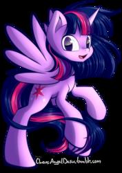Size: 1200x1697 | Tagged: safe, artist:chaosangeldesu, twilight sparkle, alicorn, pony, female, mare, simple background, smiling, solo, transparent background, twilight sparkle (alicorn)