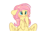 Size: 5000x3500 | Tagged: alternate hairstyle, artist:fluffyxai, bashful, blushing, bust, chest fluff, cute, daaaaaaaaaaaw, floppy ears, flower, flower in hair, fluffy, fluttershy, pegasus, pony, safe, shyabetes, simple background, smiling, solo, weapons-grade cute, white background, wings