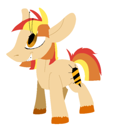 Size: 532x602 | Tagged: safe, artist:goatpaste, oc, oc only, oc:honey cove, offspring, parent:toe tapper, parent:torch song, parents:torchtapper, simple background, solo, transparent background