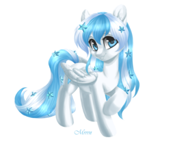 Size: 3500x2893 | Tagged: artist:mrrrn, female, looking at you, mare, oc, oc only, oc:starline, pegasus, pony, raised hoof, safe, simple background, solo, transparent background