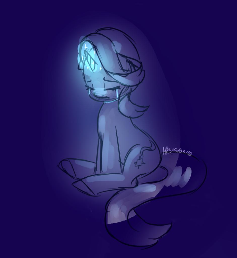 1682926 artistsolareflares crying glowing horn pony sad safe sitting sketch solo starlight glimmer unicorn derpibooru my little pony