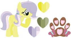 Size: 649x350 | Tagged: safe, artist:rafle-mlp-mc-yt-45, oc, oc:paw print, magical lesbian spawn, offspring, parent:doctor fauna, parent:fluttershy, parents:faunashy, simple background, solo, transparent background